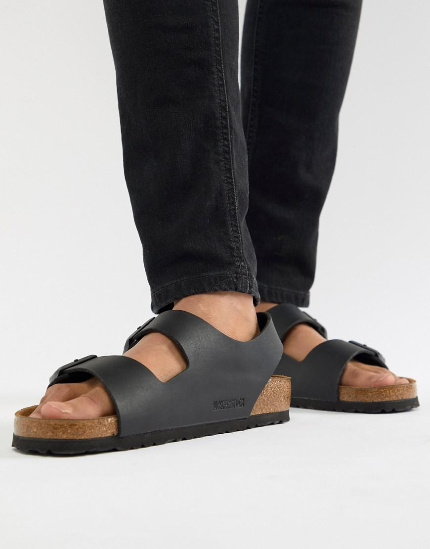 0d503ac8e3229 Birkenstock Milano Birko-flor Sandals In Black in Black for Men - Lyst