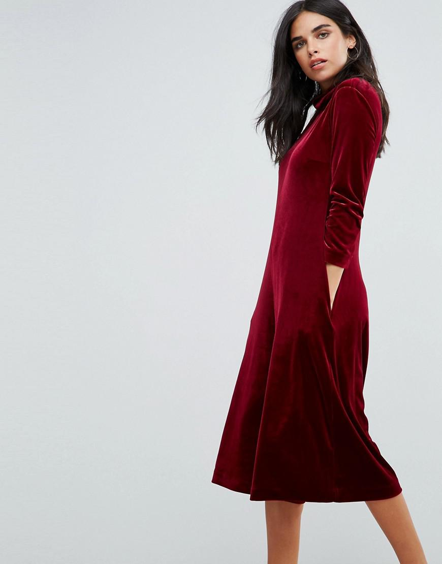 fbe87da3c0 French Connection Aber Velvet Jumpsuit in Red - Lyst