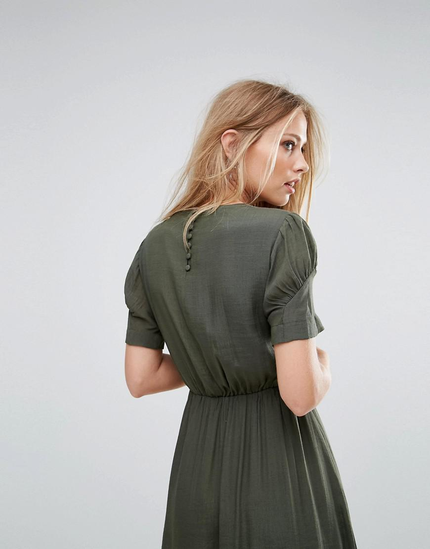 Buy Cheap Classic Gathered Waist Dress - Green Y.A.S Clearance Cheap Sale High Quality a6IyN0