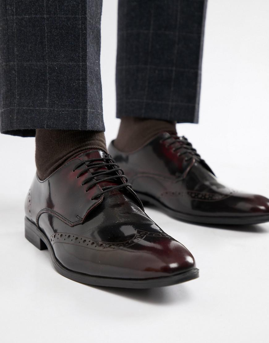 647cefe2cc24 Asos Brogue Shoes In Burgundy Leather in Red for Men - Lyst