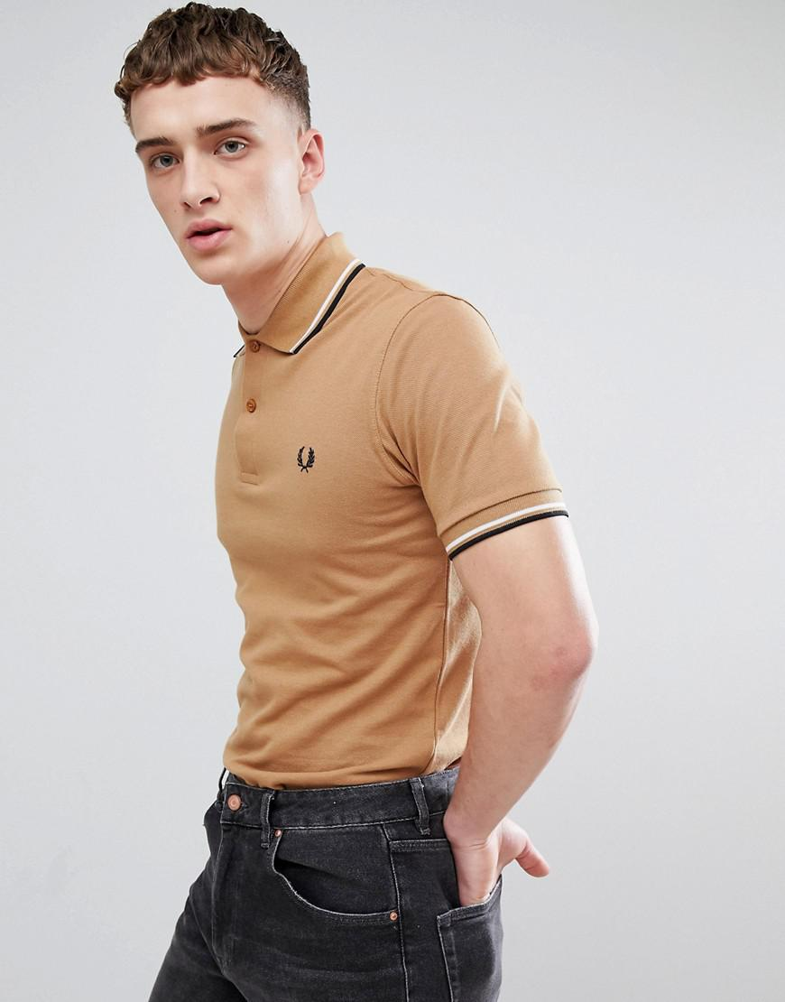 7d748f40 Fred Perry Reissues Twin Tipped Polo In Camel for Men - Lyst