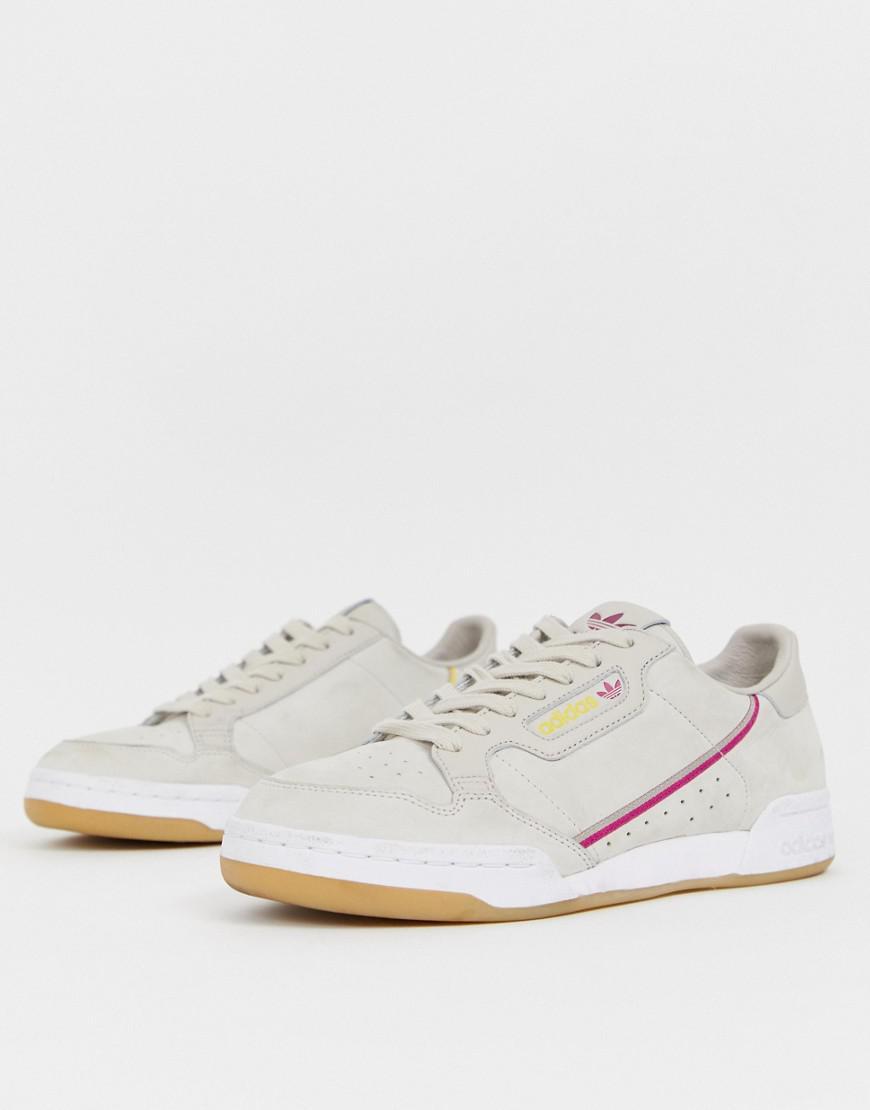 380b4d4e86e7 adidas Originals. Men s Continental 80 s Tfl Metropolitan Circle Line  Sneakers In Brown