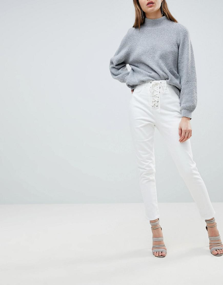 c4432abdbbc0 Lyst - Ivyrevel Jean With Lace Up Front in White