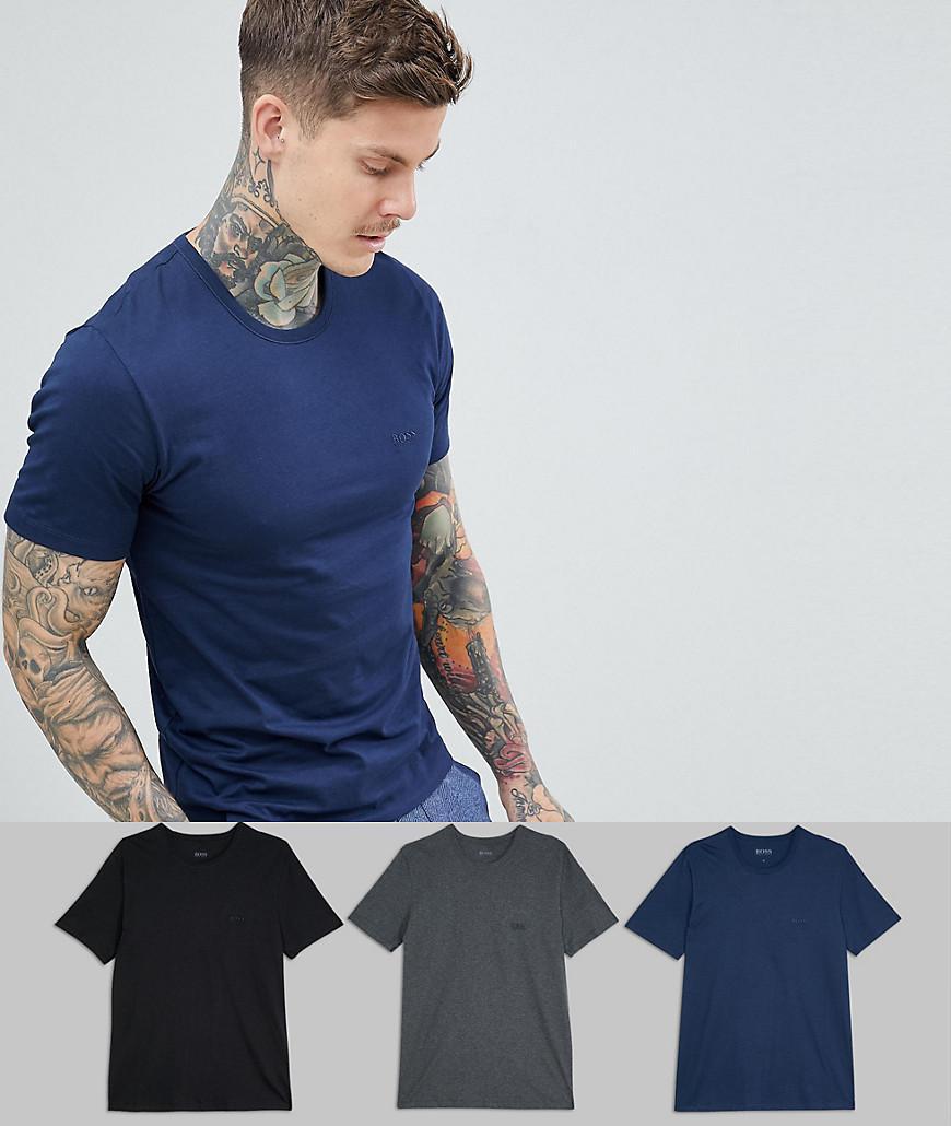 1f8890e13 BOSS Bodywear 3 Pack T-shirts in Blue for Men - Lyst