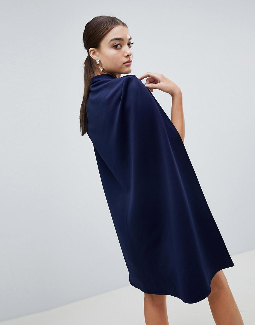 Cape Blazer Dress - Navy Club L 72Lu6V6K