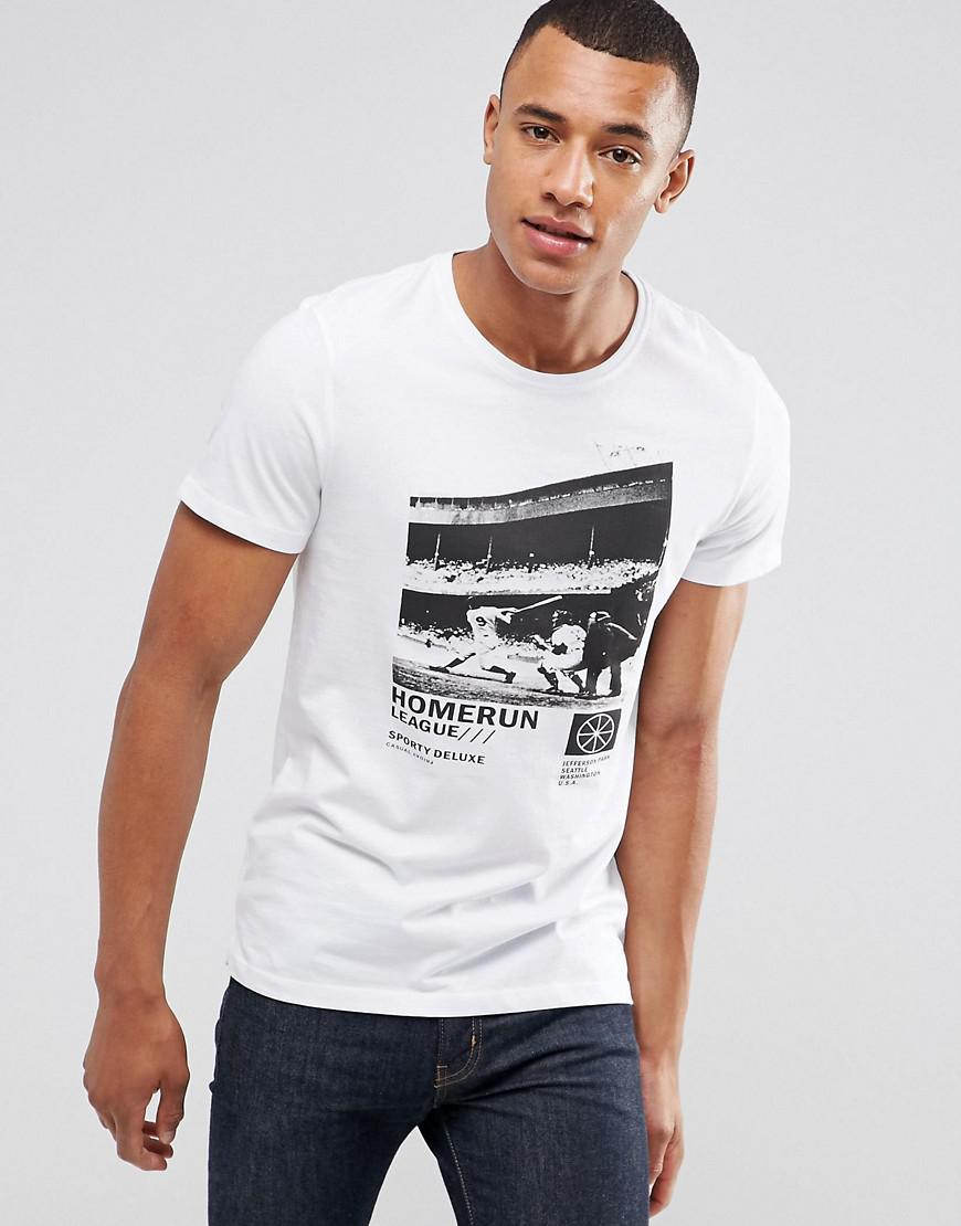 Lyst casual friday t shirt with photo print in white for men for Casual white t shirt