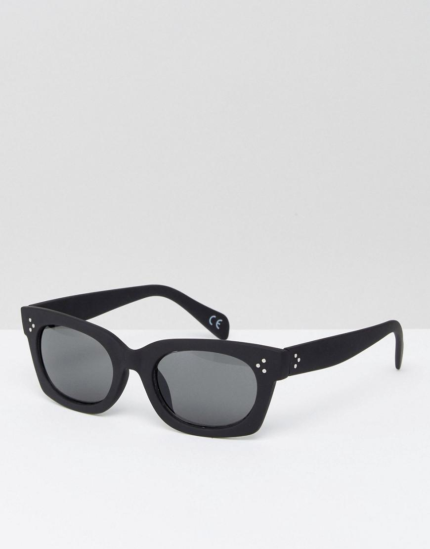 dac1933fe3 Asos Square Sunglasses In Black With Rubberised Finish in Black for ...