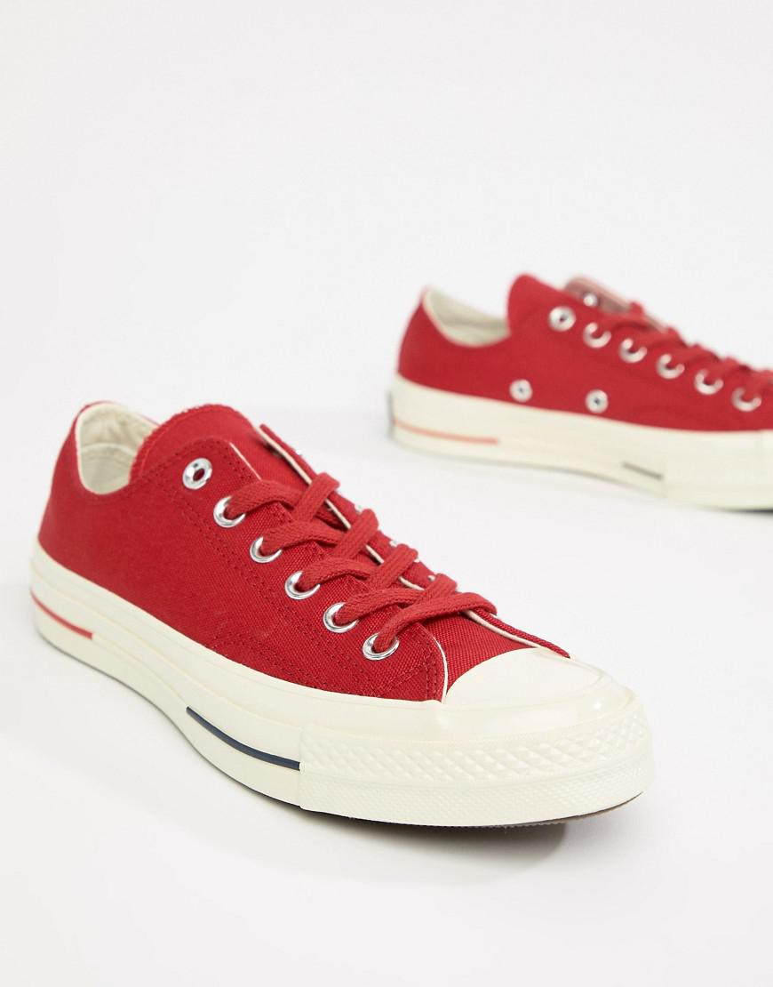 a4992a220b85 Lyst - Converse Chuck Taylor All Star  70 Low Sneakers In Red in Red