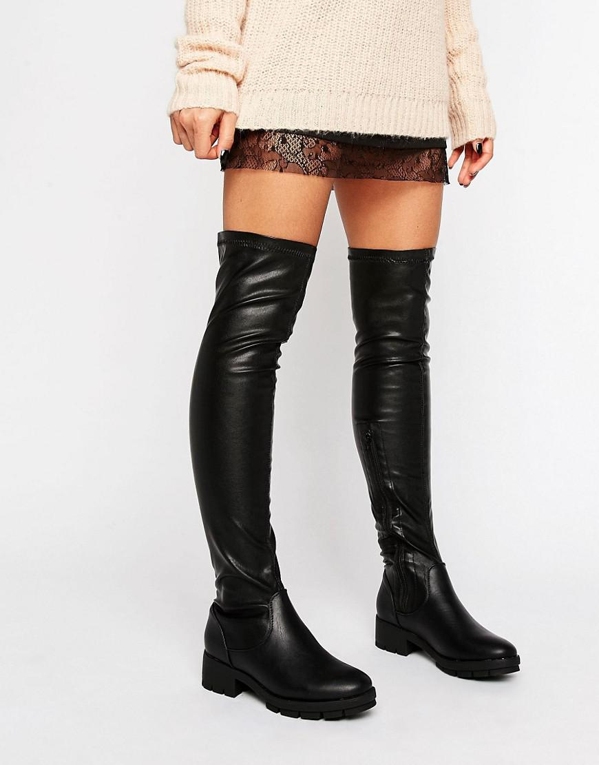 The In Kiley Over Collection Truffle Boot Knee Black Lyst qSpU1BwS