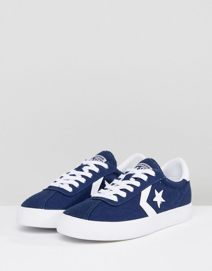 Lyst - Converse Breakpoint Canvas Sneakers In Navy in Blue 97c167f22
