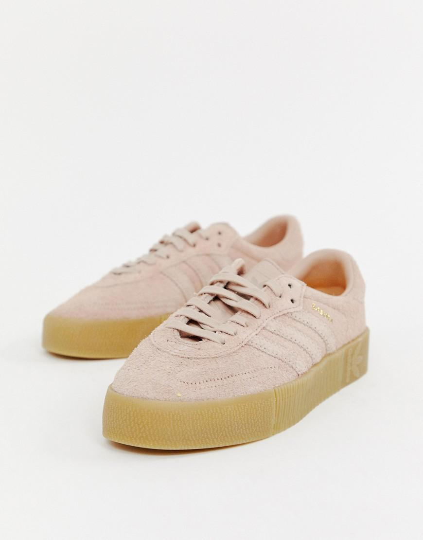 4bb4b172e82 adidas Originals. Women s Samba Rose Sneakers In Pink With Gum Sole