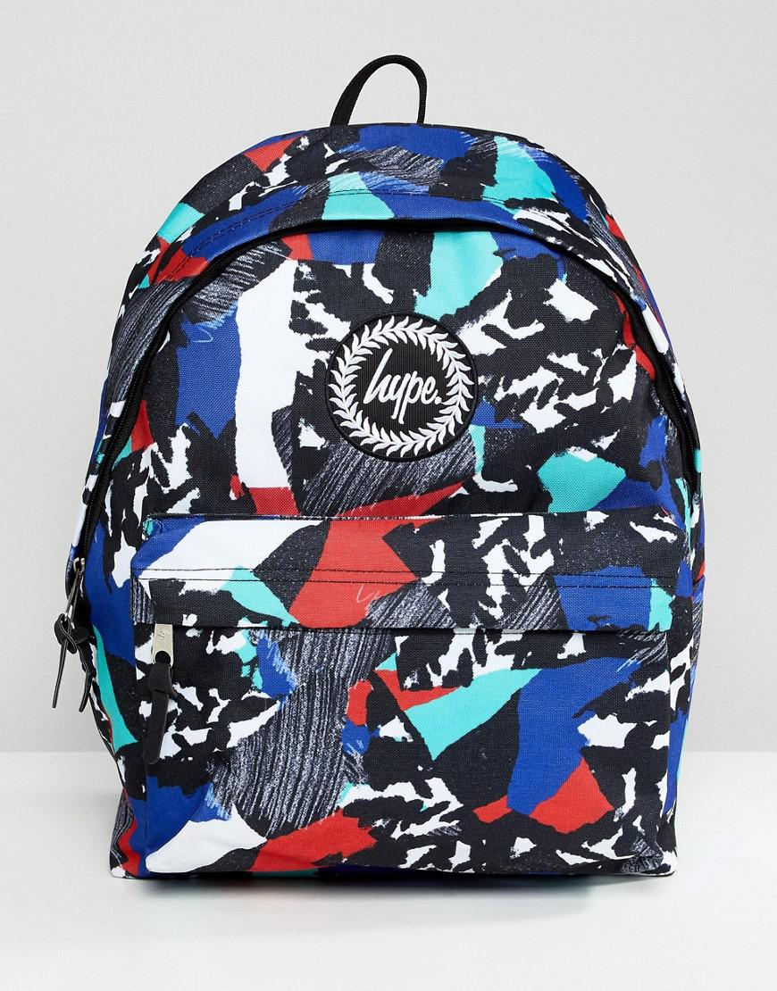 154e53c47523 Hype Backpack In Abstract Print in Blue for Men - Lyst