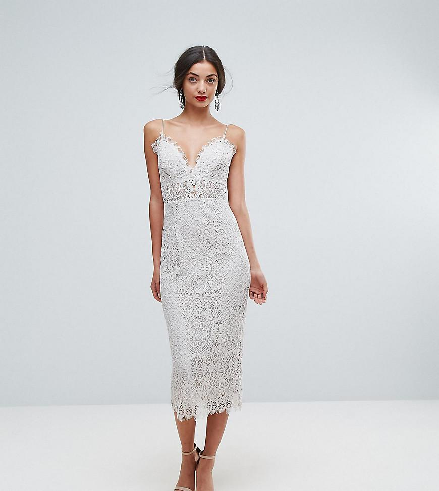 ad6eadb3832 Asos Contrast Lace Cami Midi Prom Dress