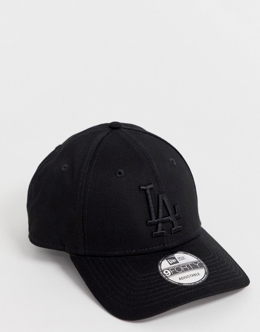 e3b4101c3 KTZ 9forty La Dodgers Adjustable Cap In Black in Black for Men - Lyst