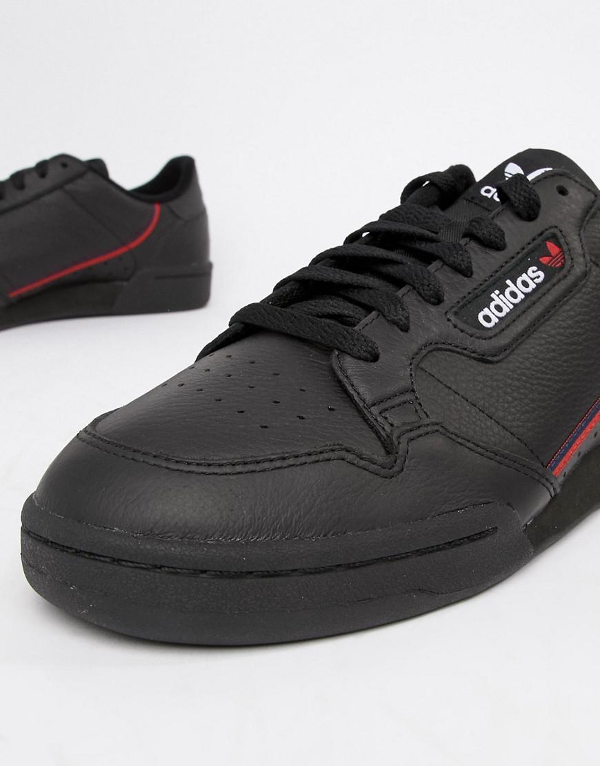 Adidas Originals continental 80 capacitadores en negro negro b41672 en negro negro 4237ba