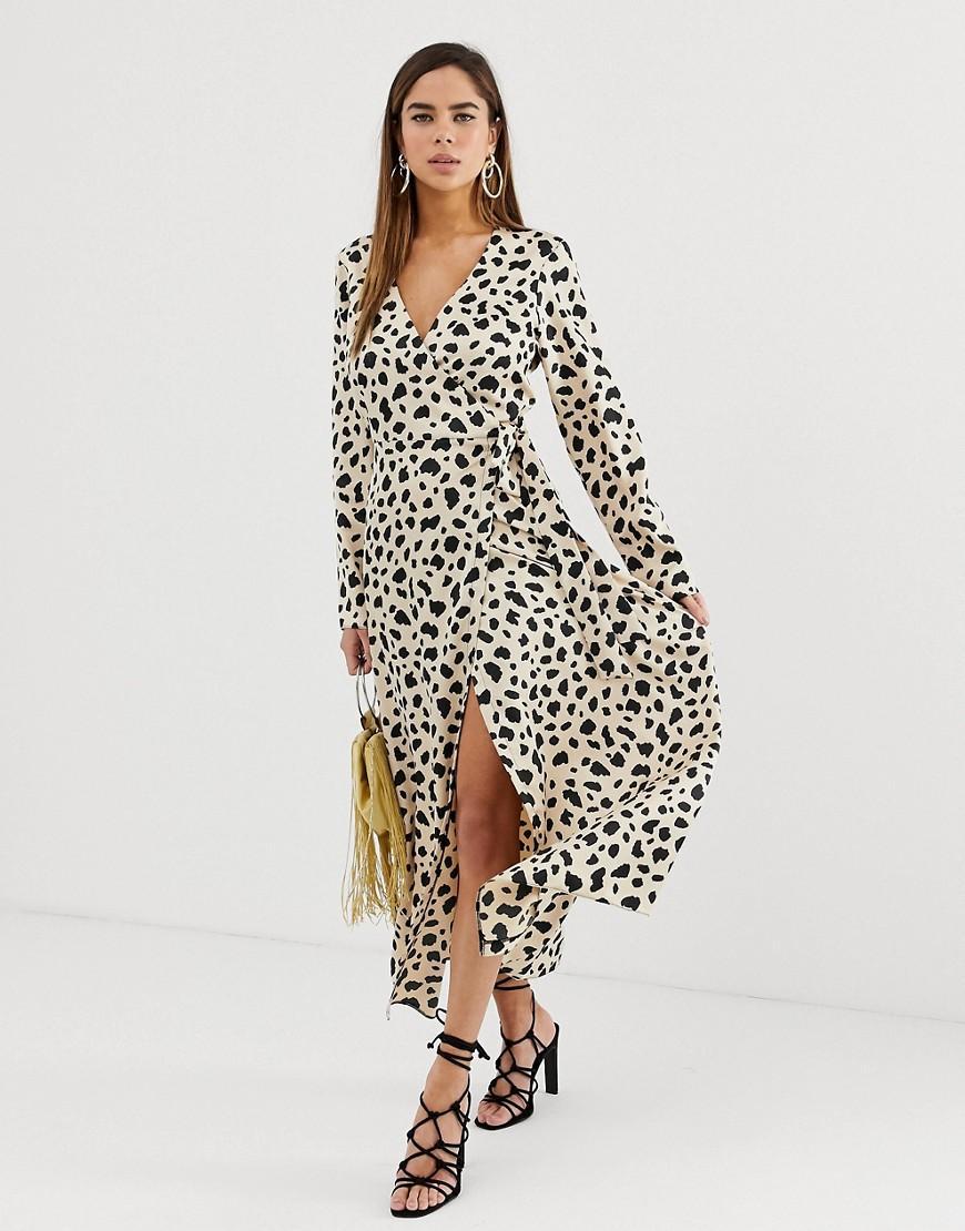 df058b99dabff ASOS. Women's Wrap Maxi Dress In Leopard Print