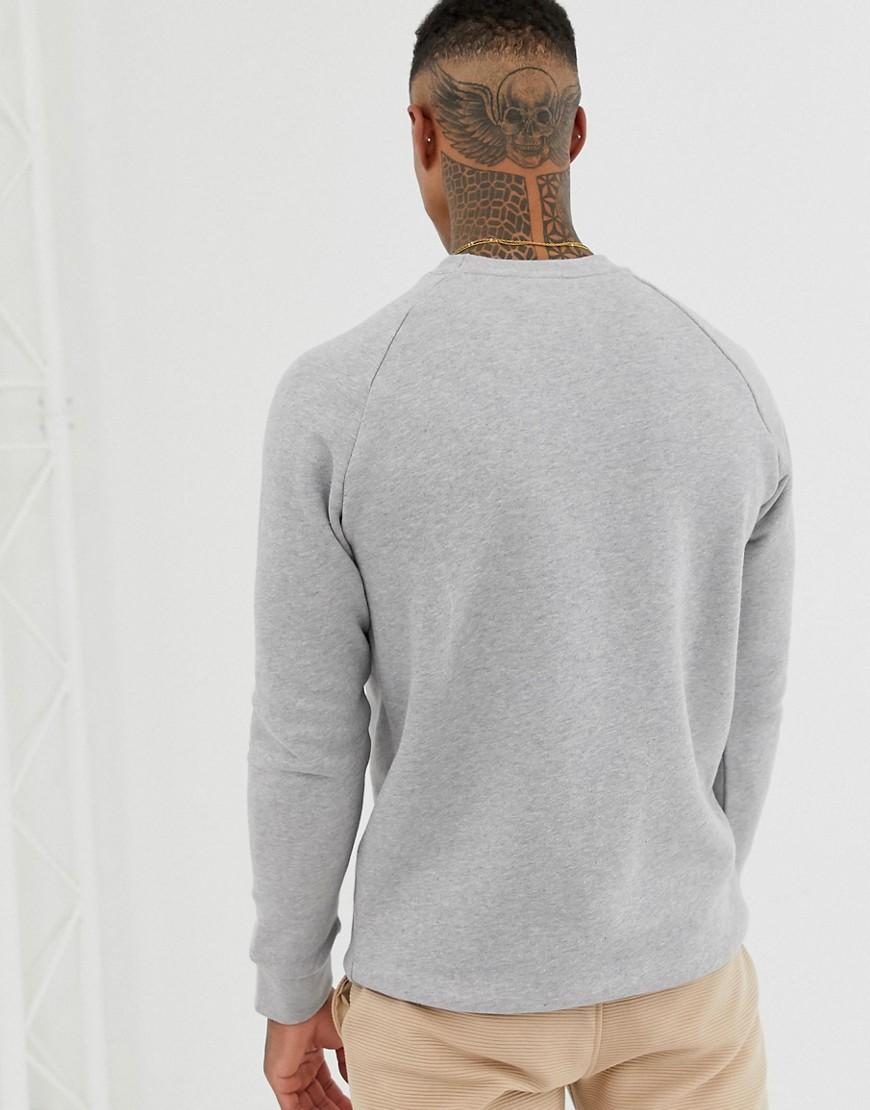 a620b98a7fa9 Lyst - adidas Originals Essentials Sweatshirt Small Logo In Gray in Gray  for Men