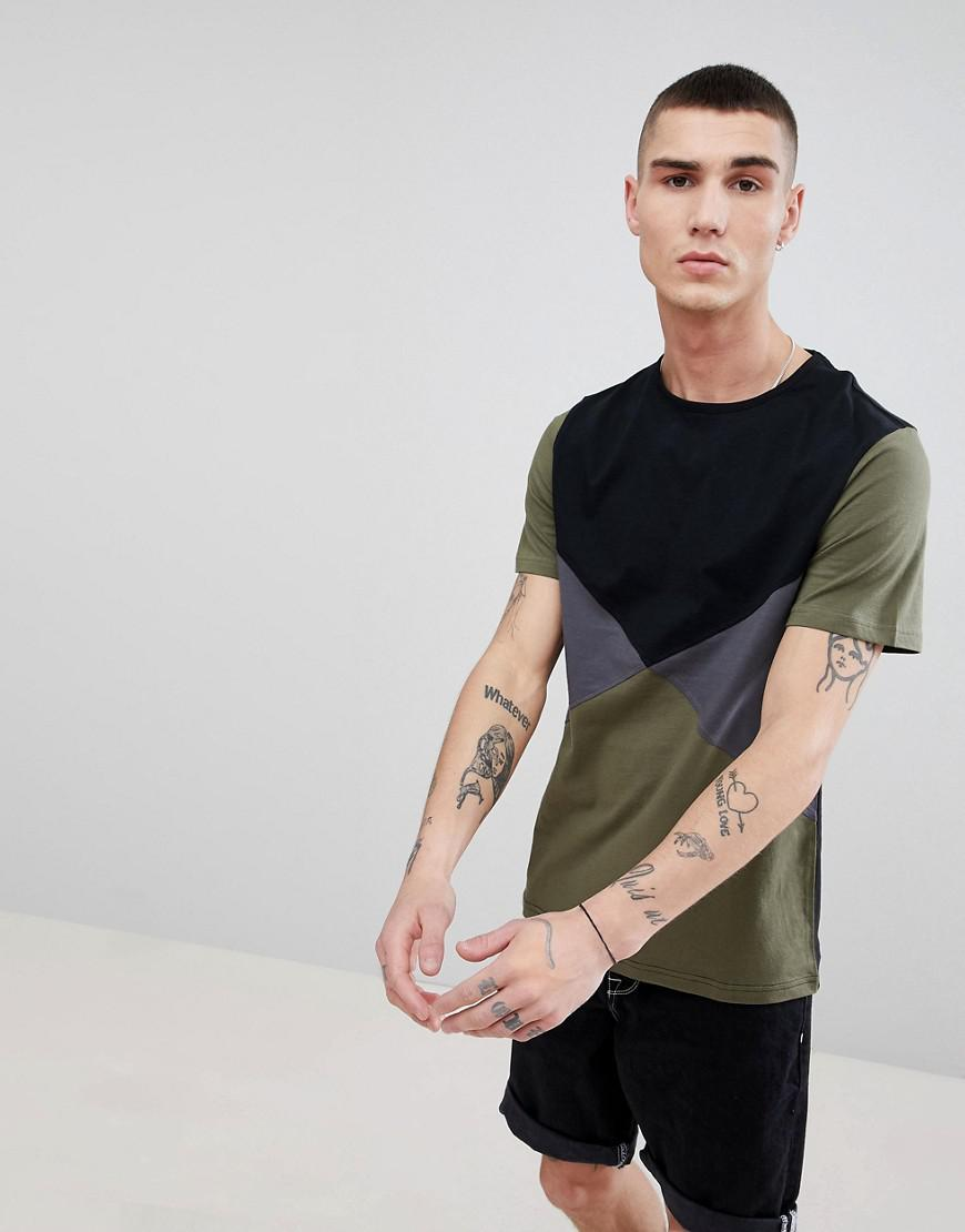d30063f9 Lyst - Another Influence Diamond Color Block T-shirt in Black for Men