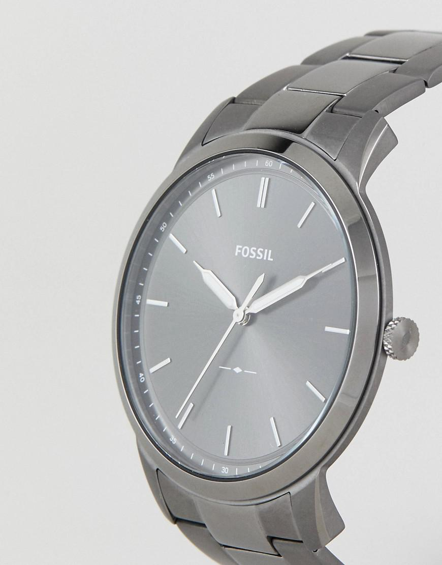 af9d8358062d Fossil Fs5459 Minimalist Bracelet Watch 44mm in Gray for Men - Lyst