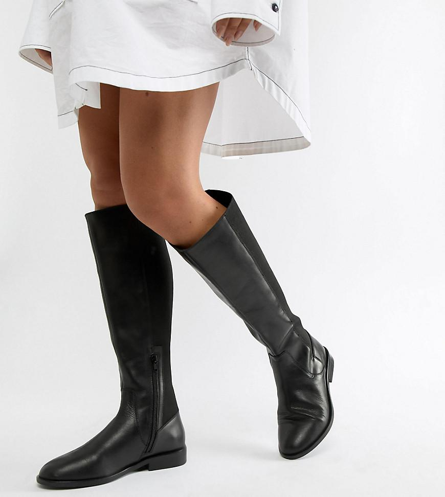 2bf5b5c7aee Lyst - ASOS Wide Fit Extra Wide Leg Cadence Leather Riding Boots in ...