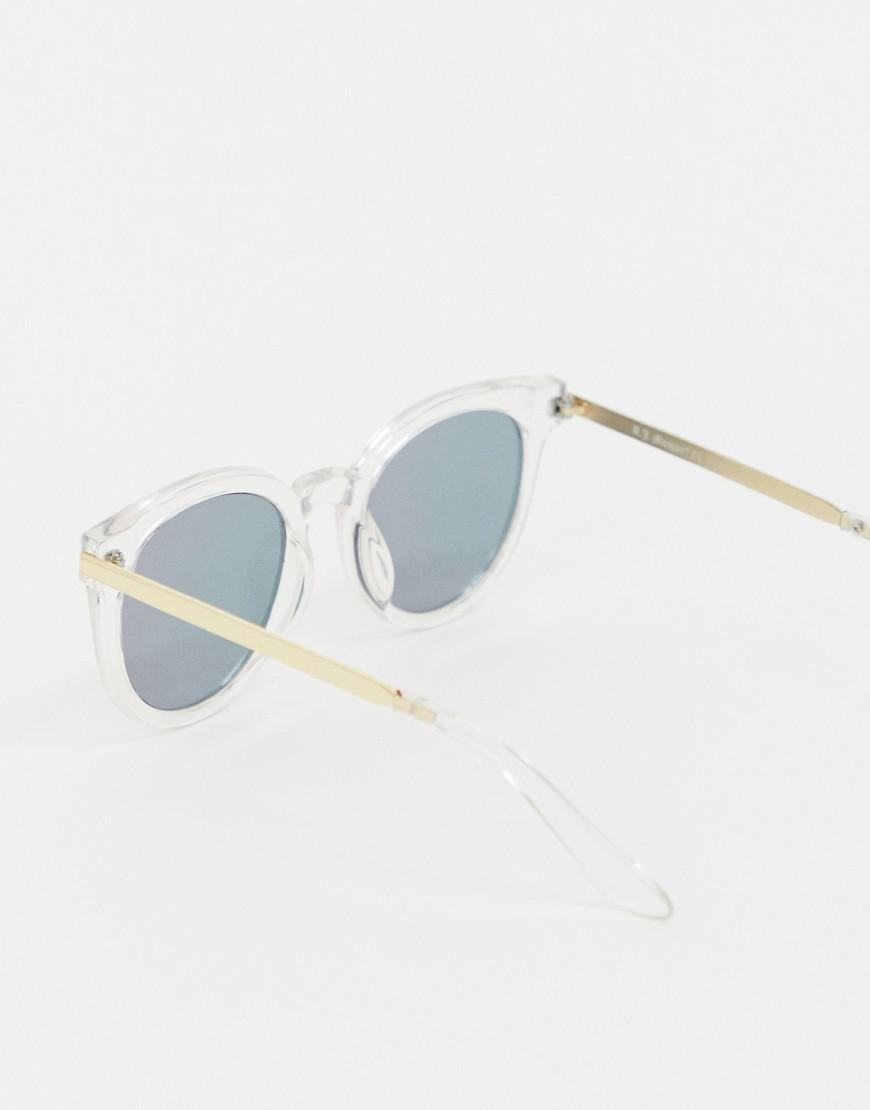 1aed4ea73b7 A.J. Morgan Clear Frame Cat Eye Sunglasses - Lyst