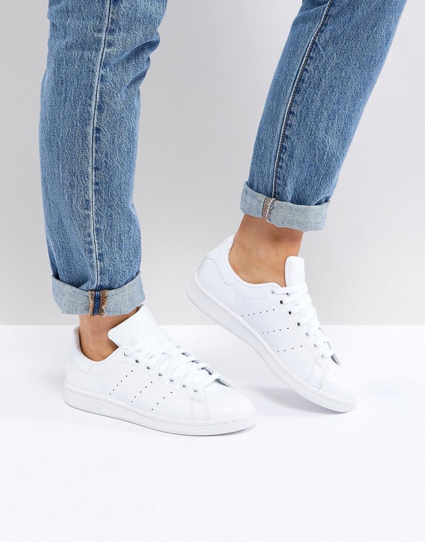 a14879e5a0ba31 Adidas Originals Originals All White Stan Smith Sneakers in White - Lyst
