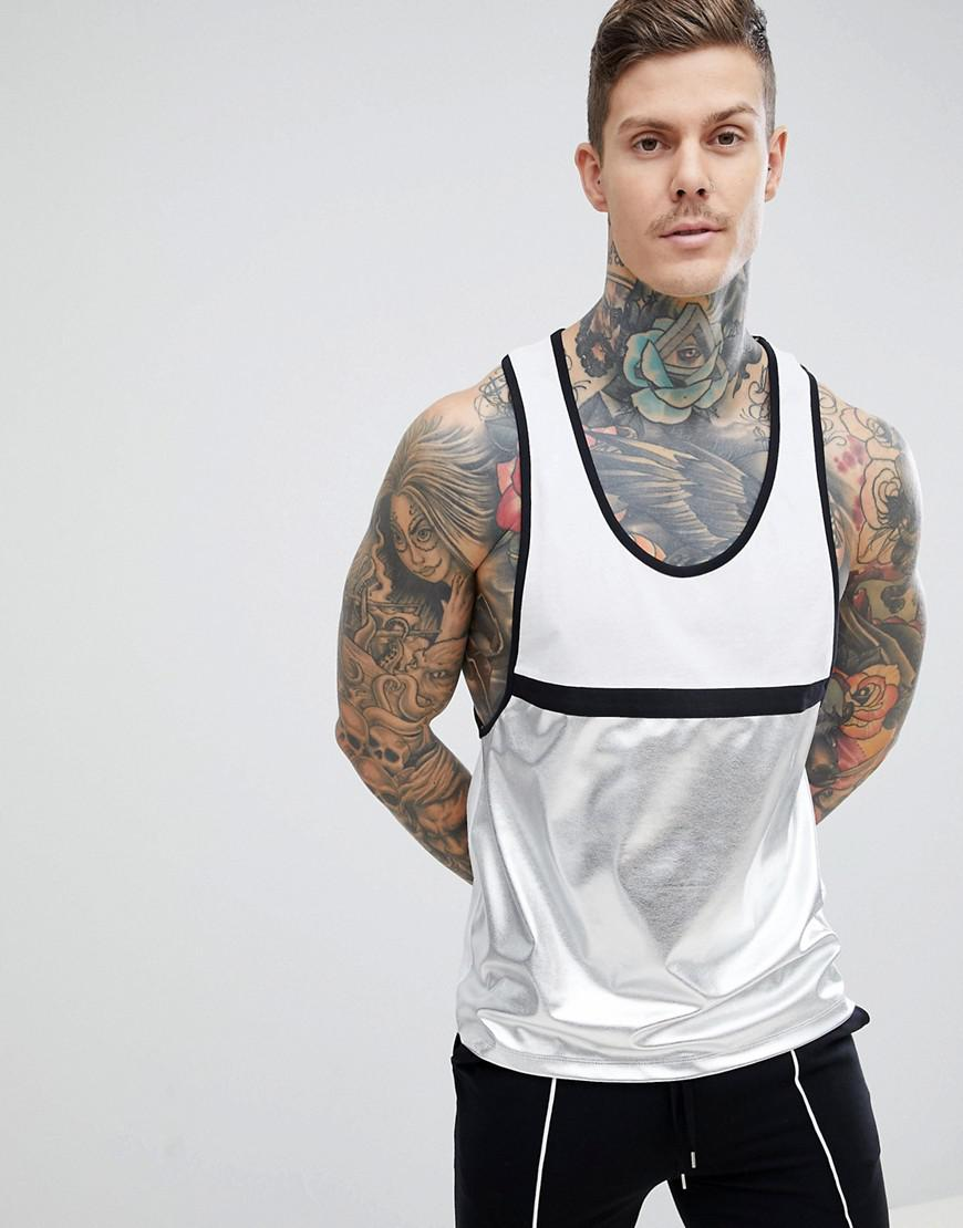 DESIGN oversized longline sleeveless t-shirt in white - White Asos Discount Outlet Fake Cheap Sale Many Kinds Of Clearance Footlocker Cheap Price Outlet rX7sA