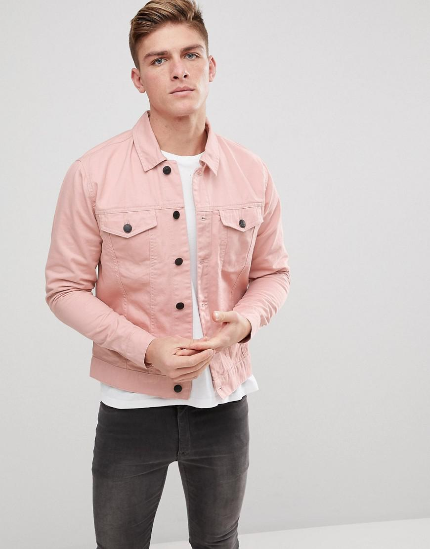 Lyst Only Sons Denim Jacket In Pink For Men