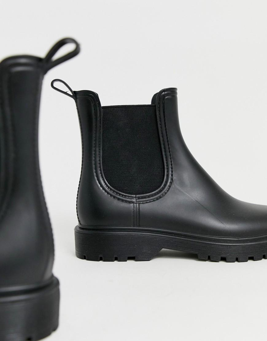 91cfeda3af2c Lyst - ASOS Gentle Chunky Chelsea Rain Boots in Black