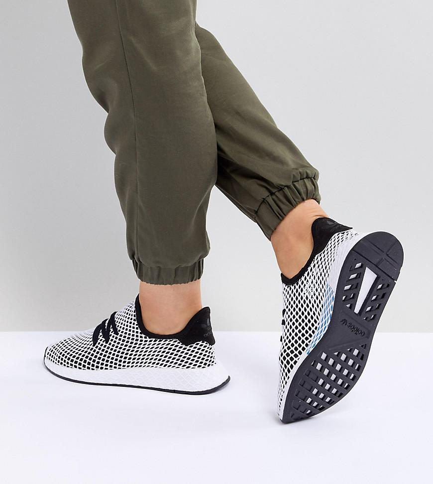 timeless design a54f7 f9dda adidas Originals Deerupt Runner Sneakers In Black And Gray in Black ...