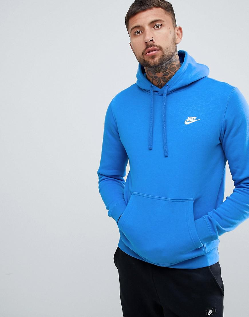 9ecd6c2b9afd Nike - Club Swoosh Pullover Hoodie In Blue 804346-403 for Men - Lyst. View  fullscreen