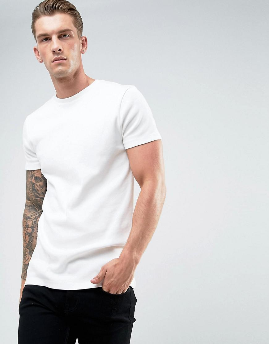 f3e2abce134c7c Lyst - Asos Longline Muscle T-shirt In Heavyweight Micro Rib in ...
