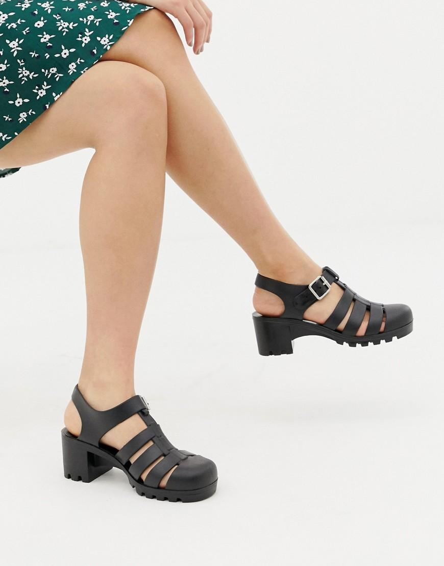 d83a474bbf9f Lyst - ASOS Flying High Fisherman Jelly Sandals in Black