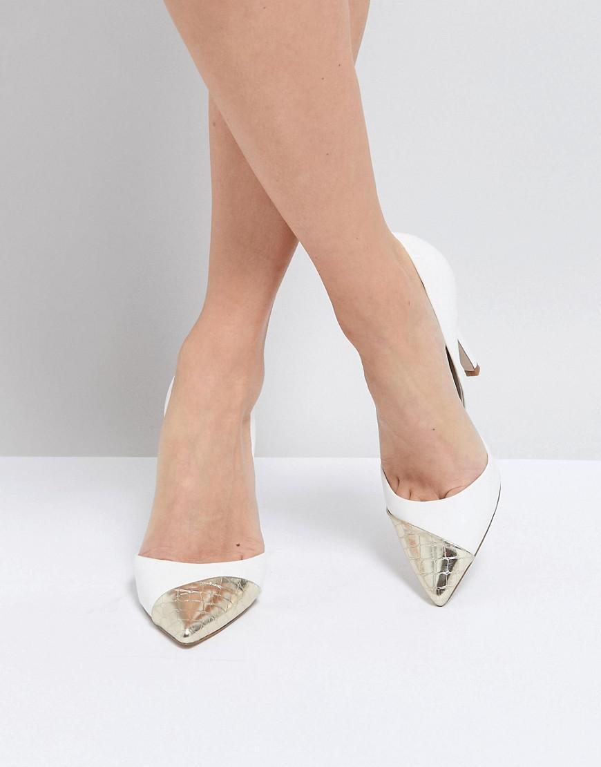 Miss KG Contast Toe Cap Point High Heels xxpODL