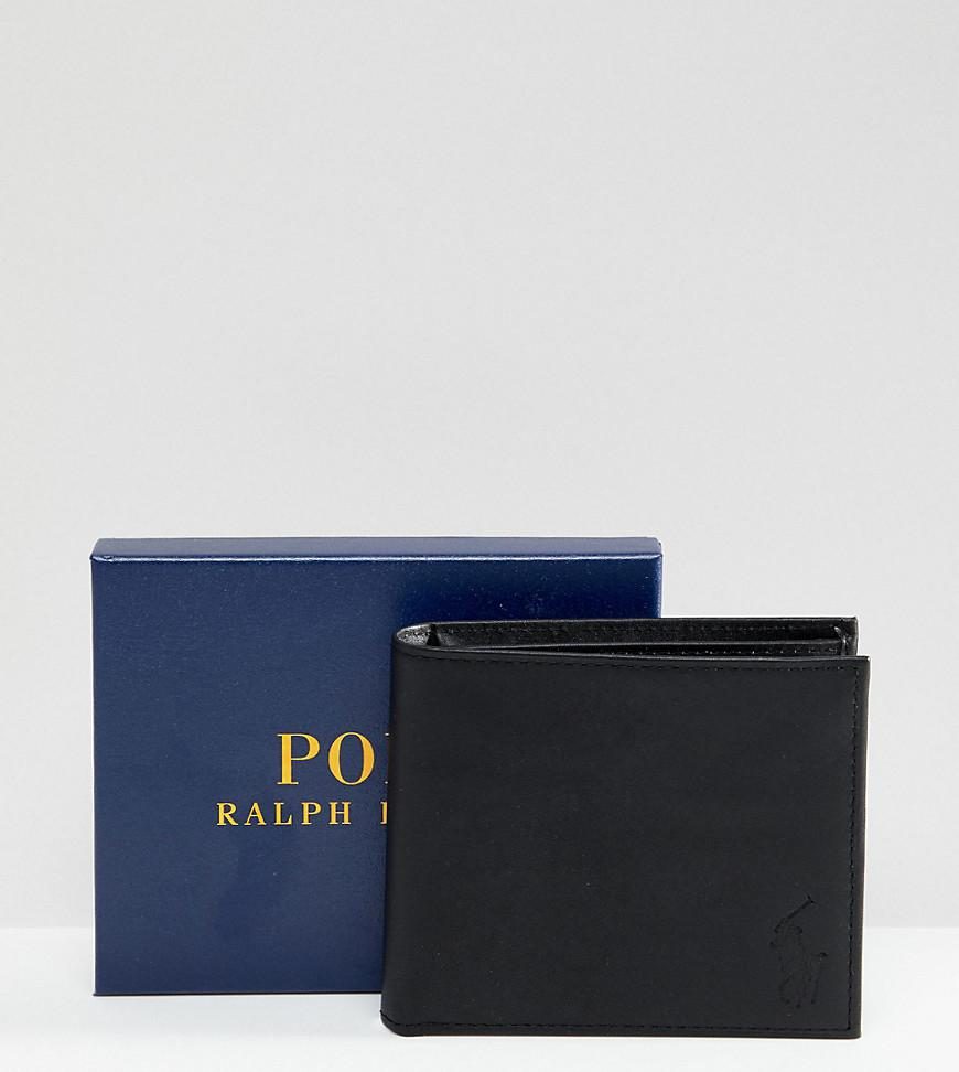 Polo Ralph Lauren. Portefeuille porte-billets classique en cuir homme de  coloris noir 77c6990e421
