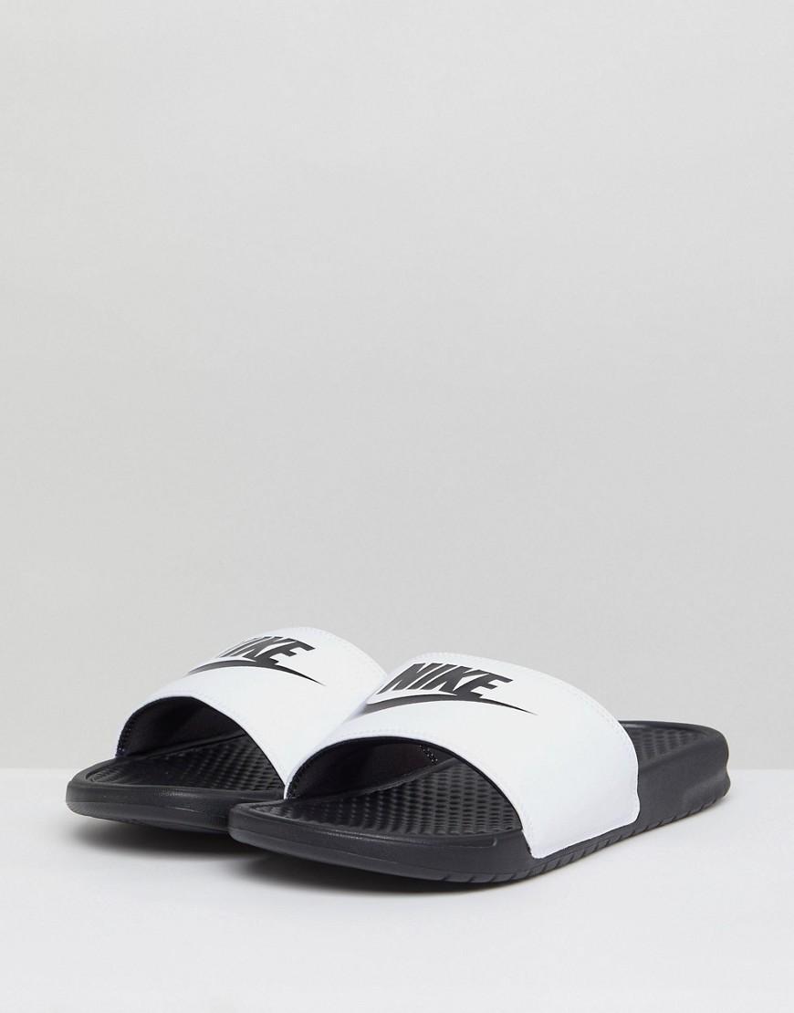 2f6d6176e0b Lyst - Sandalias blancas Benassi JDI 343880-100 de Nike de hombre de ...