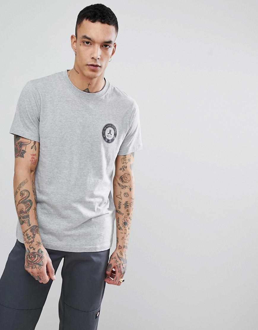 WeSC Varsity Chest T-Shirt - Grey Wesc Cheap Price Fake LeGfgFEz