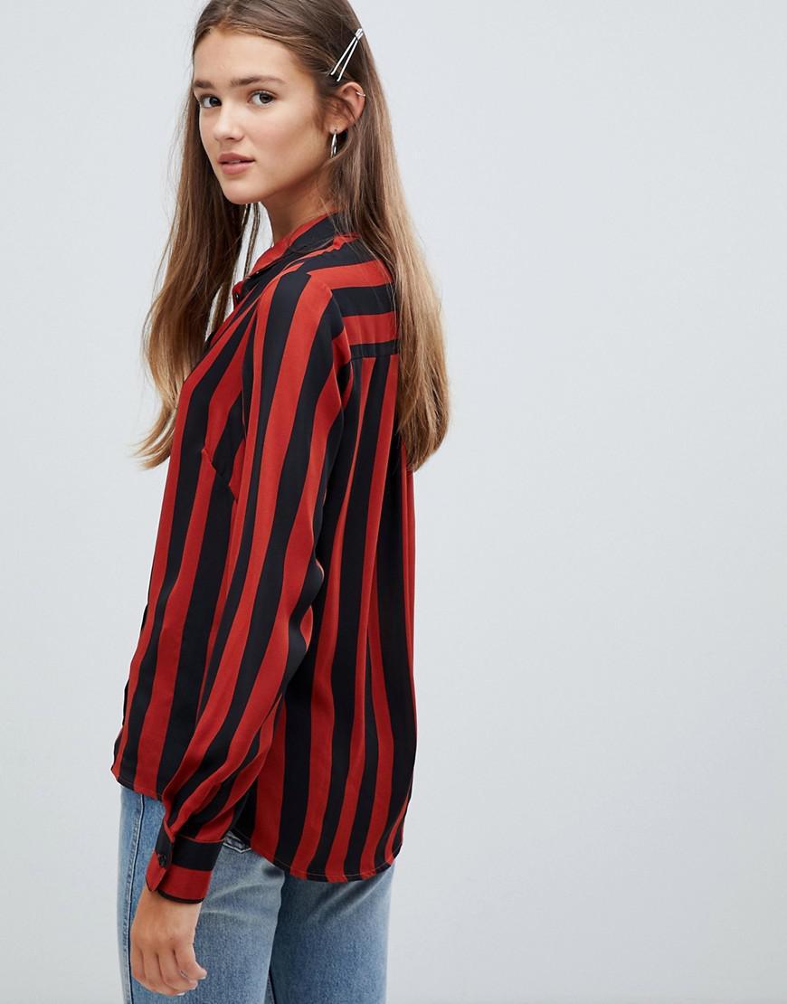 c558bbc2b9 New Look - Brown Lead In Stripe Shirt - Lyst. View fullscreen