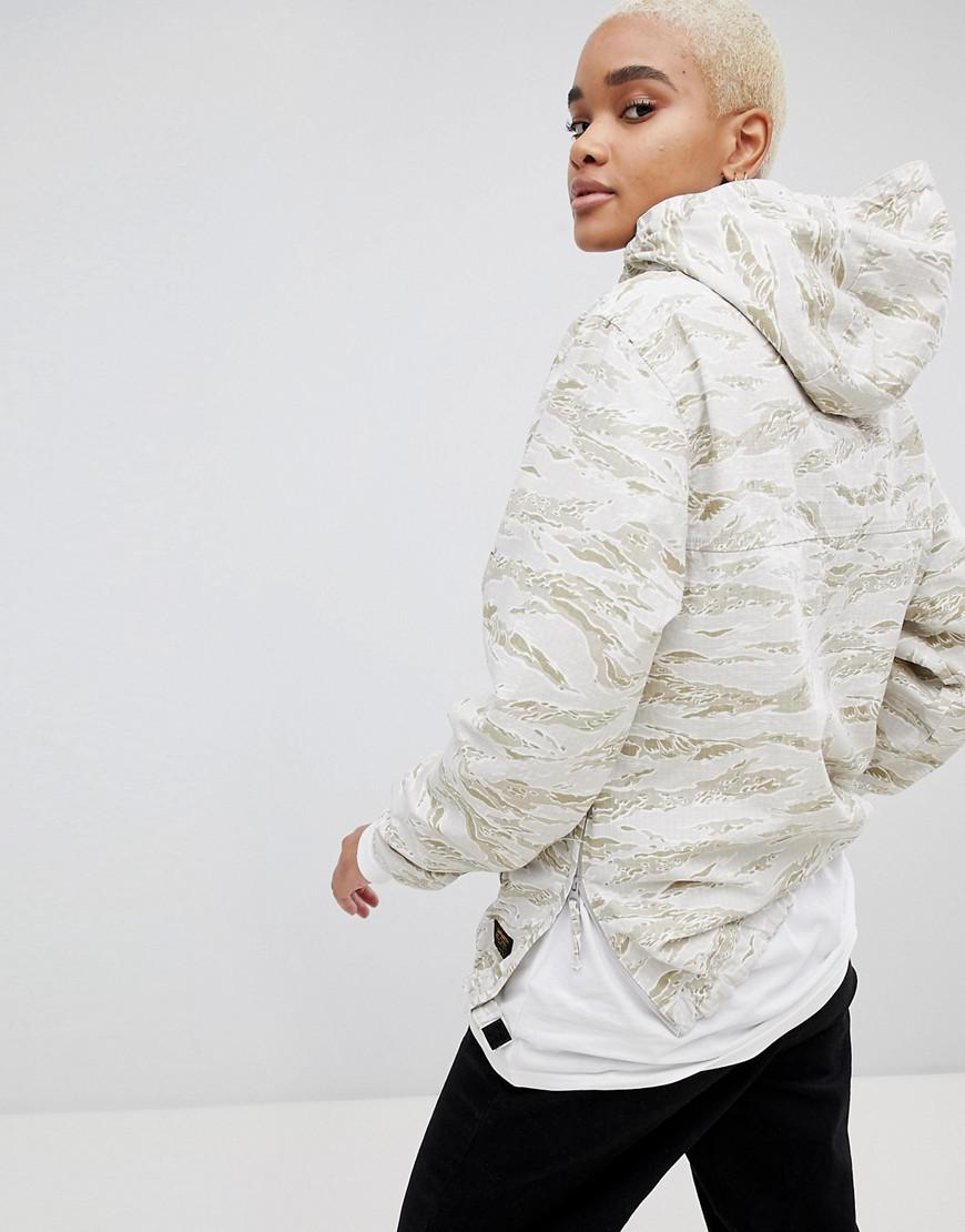 33bef8f98fa Carhartt WIP Hooded Anorak In Camo in White - Lyst