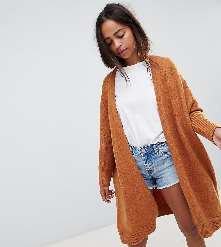 e164226d5 Lyst - ASOS Asos Design Petite Eco Oversize Cardigan In Fluffy Yarn ...