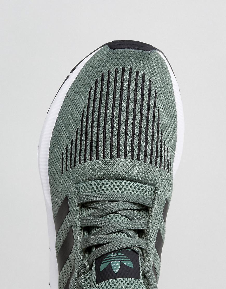 675e9f63d1edf adidas Originals Swift Run Trainers In Green Cg4115 in Green for Men ...