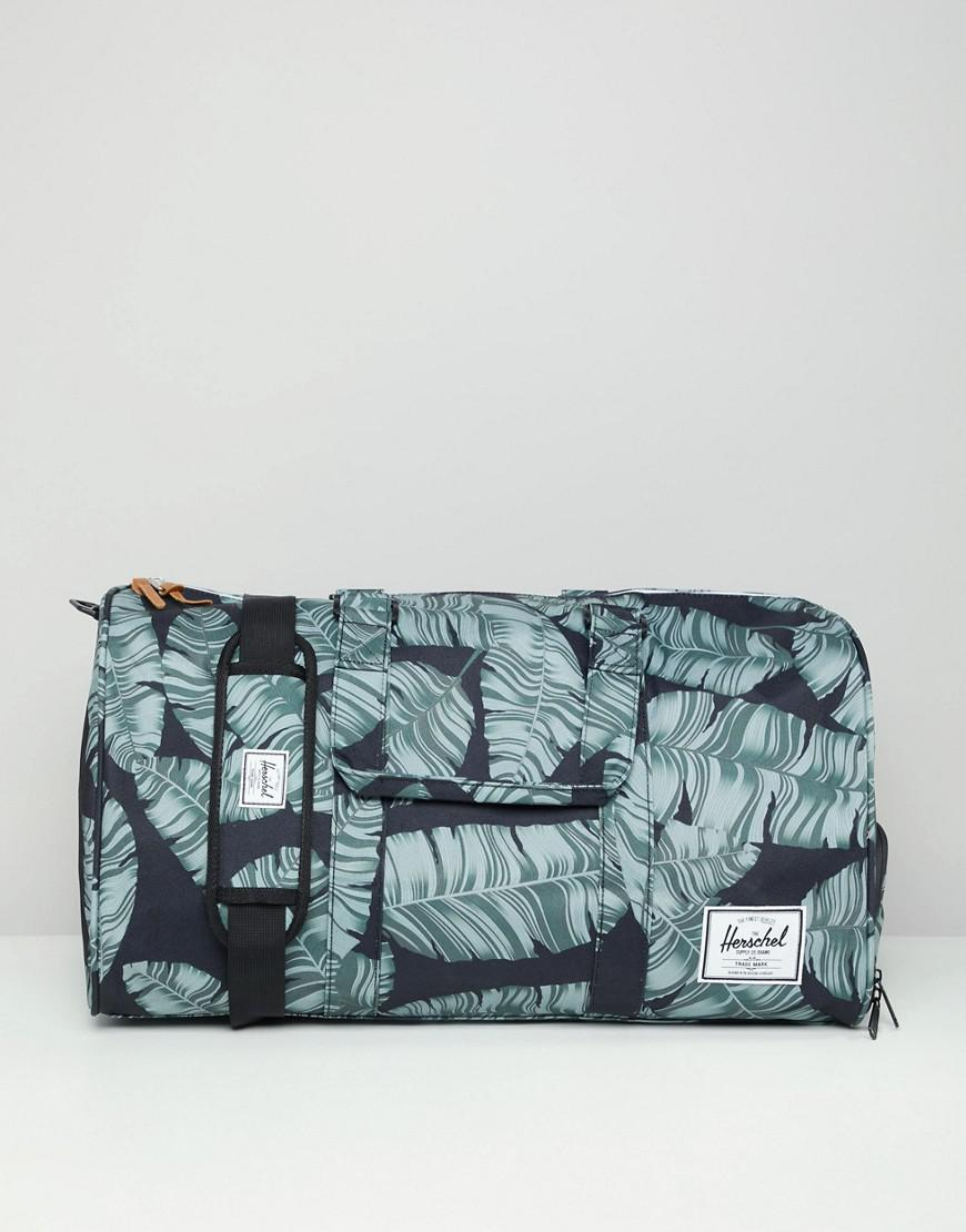 3b58ec6f17 Herschel Supply Co. Novel Duffle Bag 42.5l In Palm Print in Black ...
