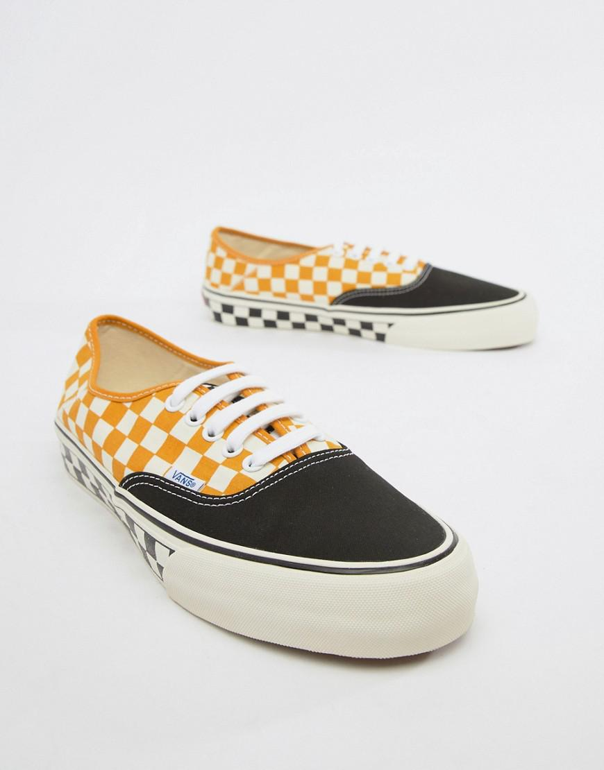 3076ed6c080 Vans Authentic Checkerboard Plimsolls In Yellow Vn0a3mu6u6t1 in Yellow for  Men - Lyst