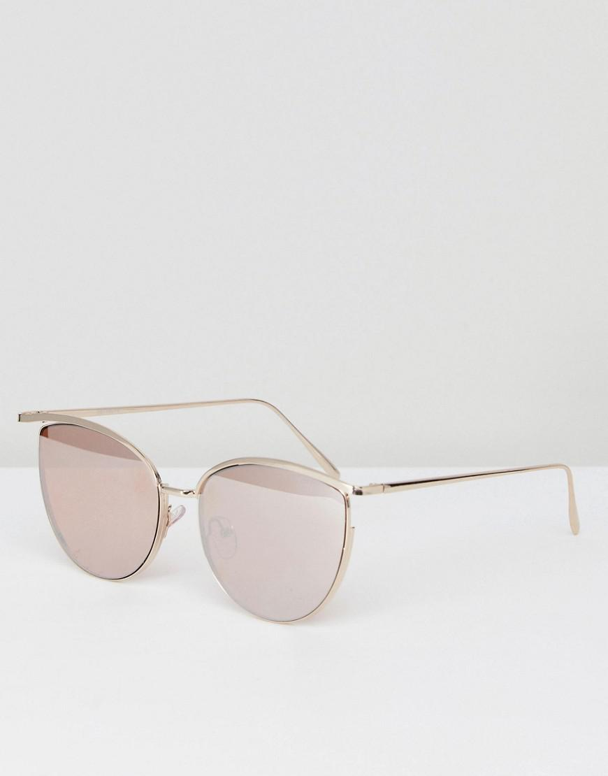 DESIGN Oversized Metal Square Sunglasses With Cut Away Detail & Diamonte - Green Asos Dw4vywxwA