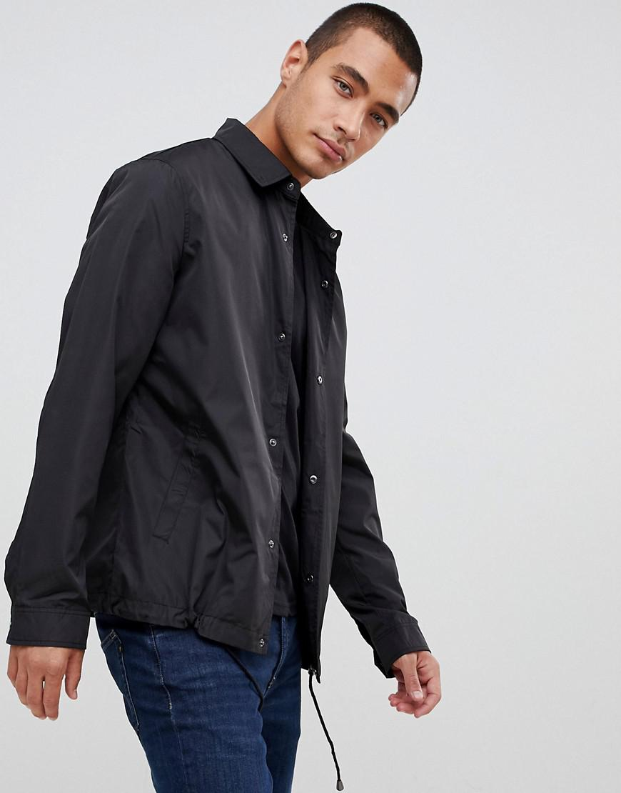27db1b2a1b6 ASOS Coach Jacket In Black in Black for Men - Lyst