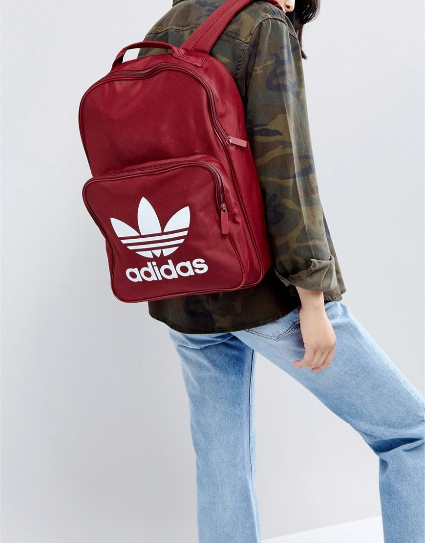 Lyst - adidas Originals Originals Classic Burgundy Backpack With ... 35374d033327d