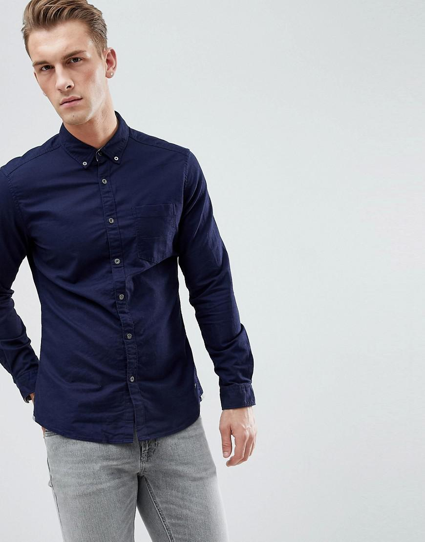 2ce81027ff8 Esprit Slim Fit Oxford Shirt With Button Down Collar In Navy in Blue ...
