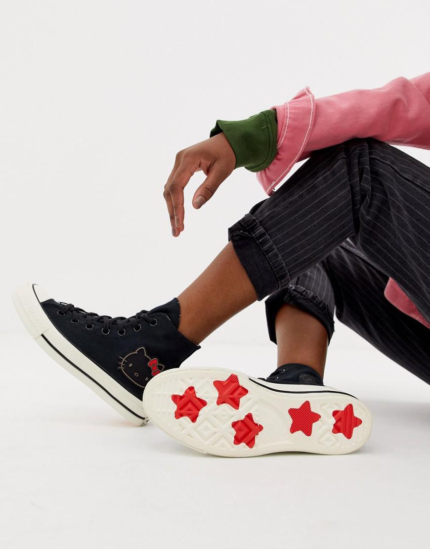 b2c773052777c3 Lyst - Converse X Hello Kitty Chuck Taylor 70 Hi Black Sneakers in Black