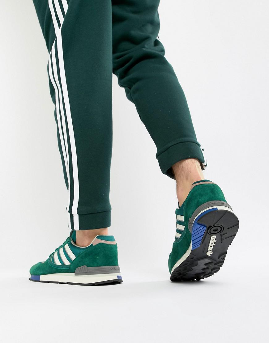 lyst adidas originali quesence formatori in verde b37851 in verde