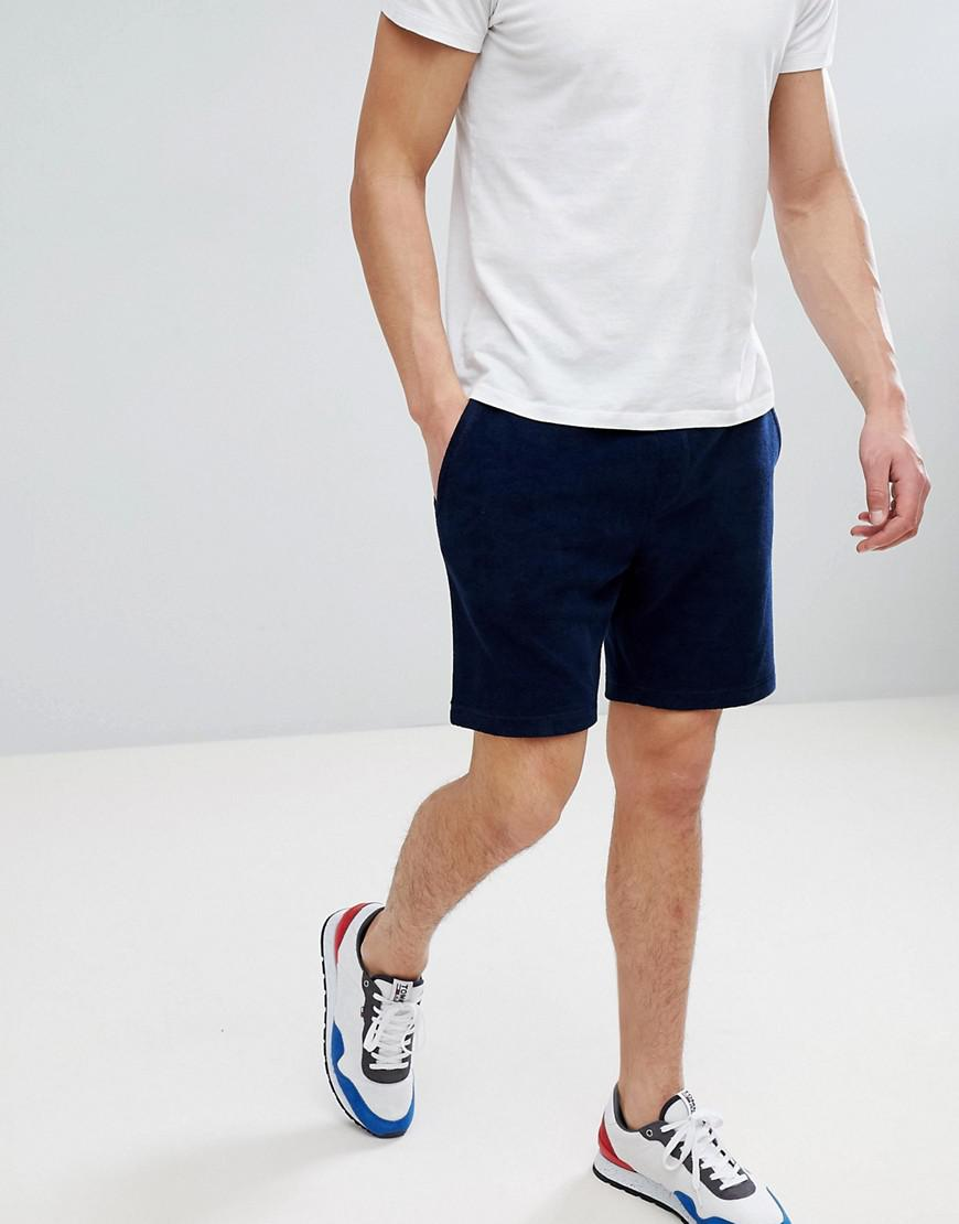 52af18dbdc9cf0 Tommy Hilfiger Towelling Sweat Shorts With Icon Stripe   Flag Logo ...